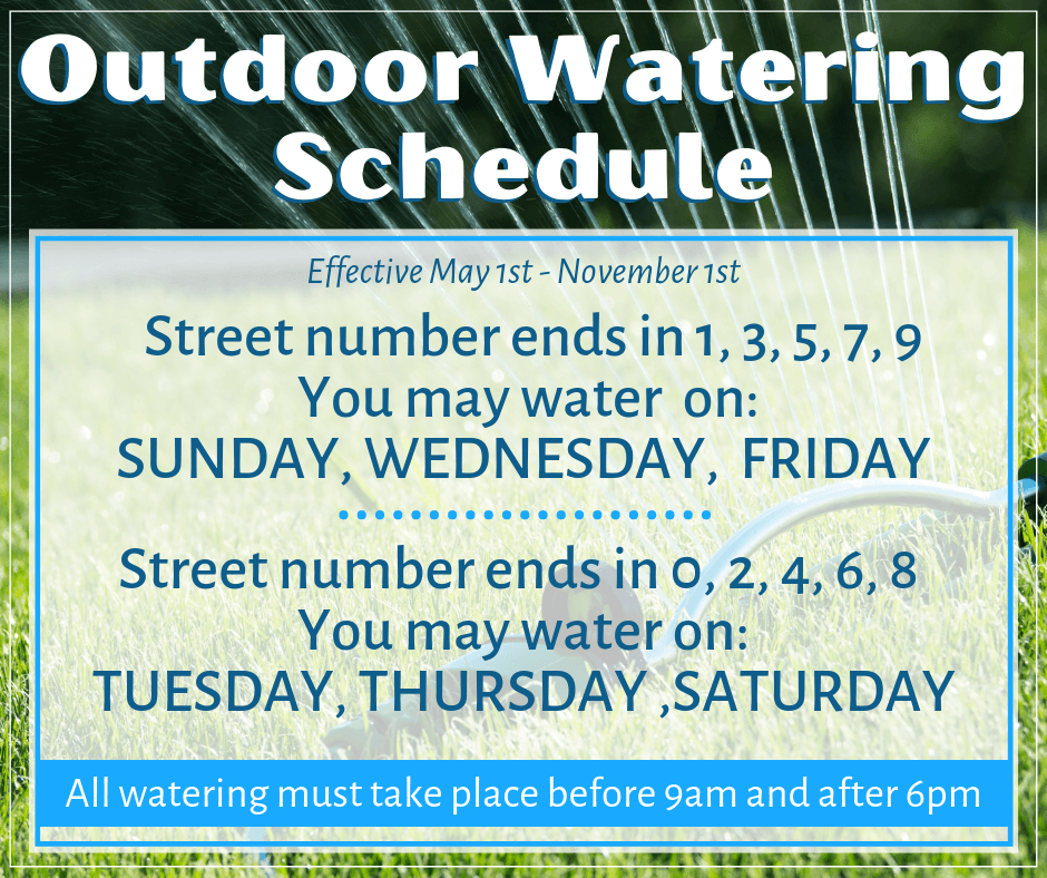 Outdoor Watering Schedule
