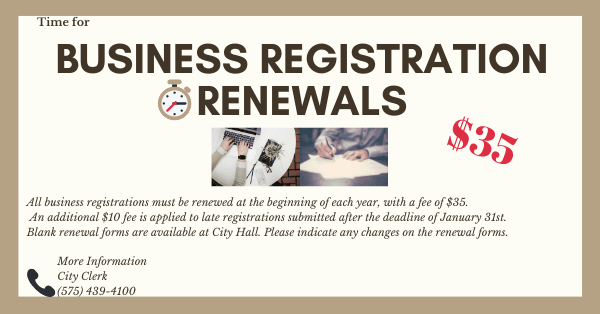Business Registration renewal